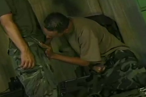 Ricki Torres And Eddie Gomez suck And plow In Military Romp