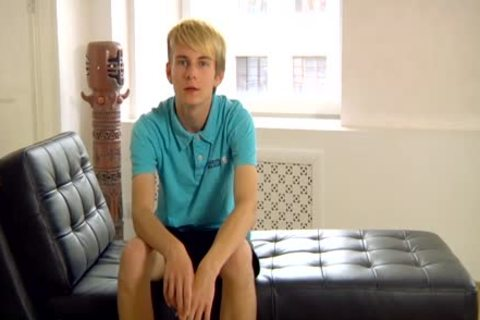 Mark - fascinating, lovely, Blond teentwink - Solo - skankty Uncut schlong!